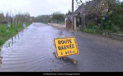 Etat des routes départementales de l'Aube, inondées et barrées