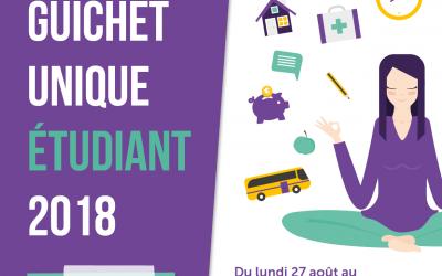 Guichet unique étudiant du 27 au 31 août et du 3 au 7 septembre