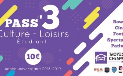 Le Pass Culture/Loisirs Étudiant 2018