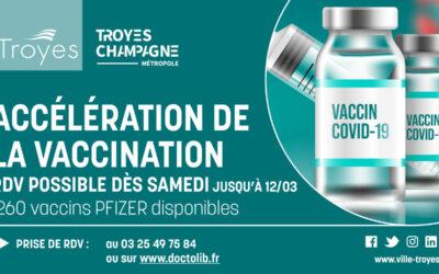 Accélération de la vaccination