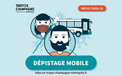 Prochains dépistages mobiles dans Troyes Champagne Métropole